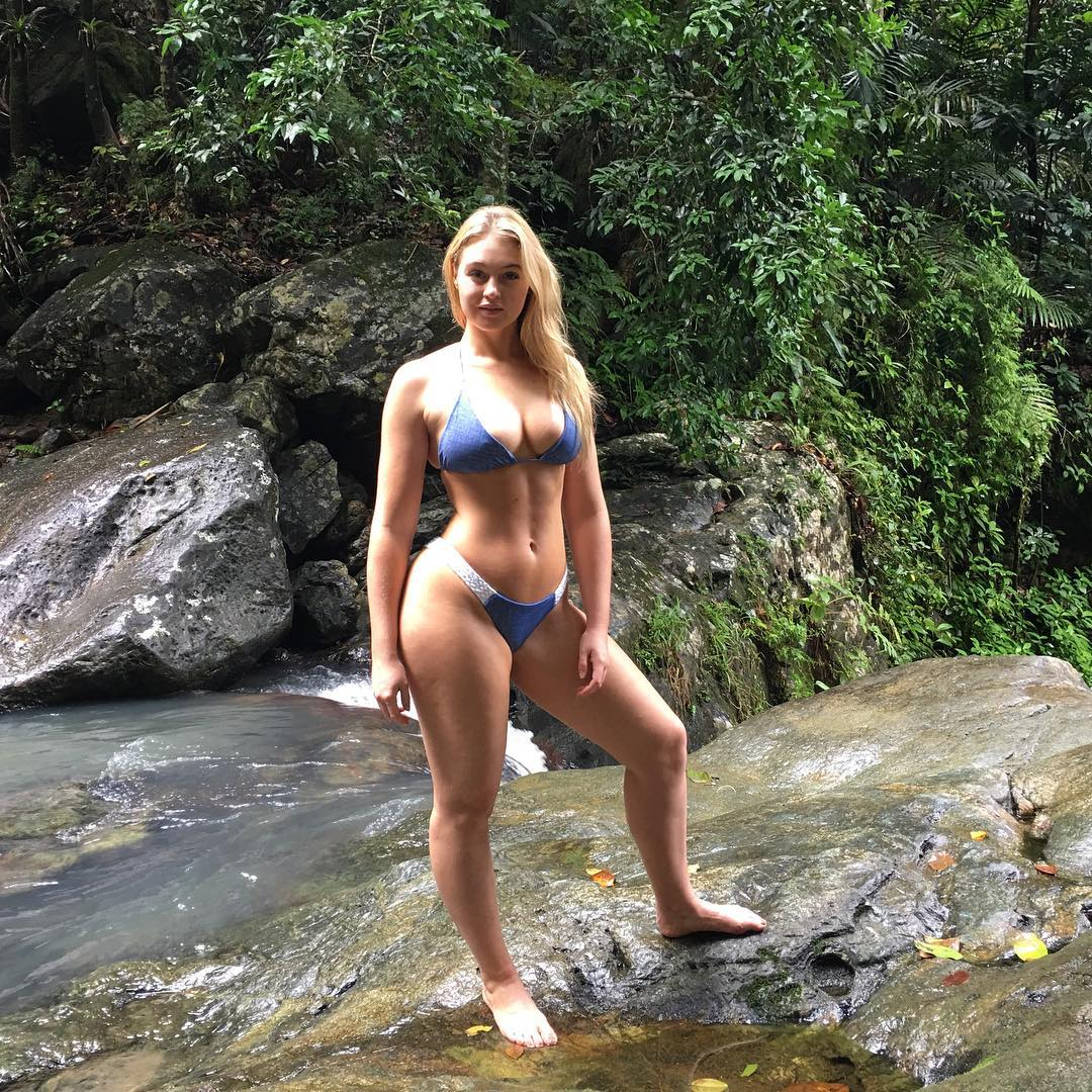 Iskra Lawrence shows off her latest bikini