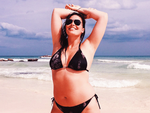 Plus-size model Candice Huffine