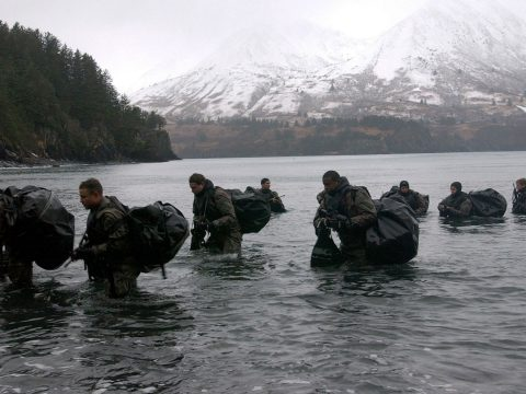 Navy SEALs winter training
