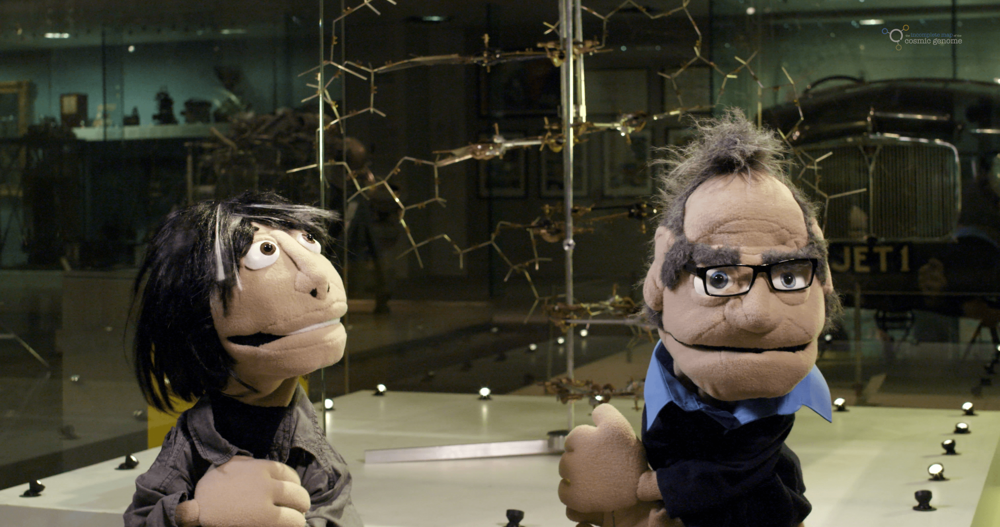 The Quest For Wonder puppets of Brian Cox and Robin Ince