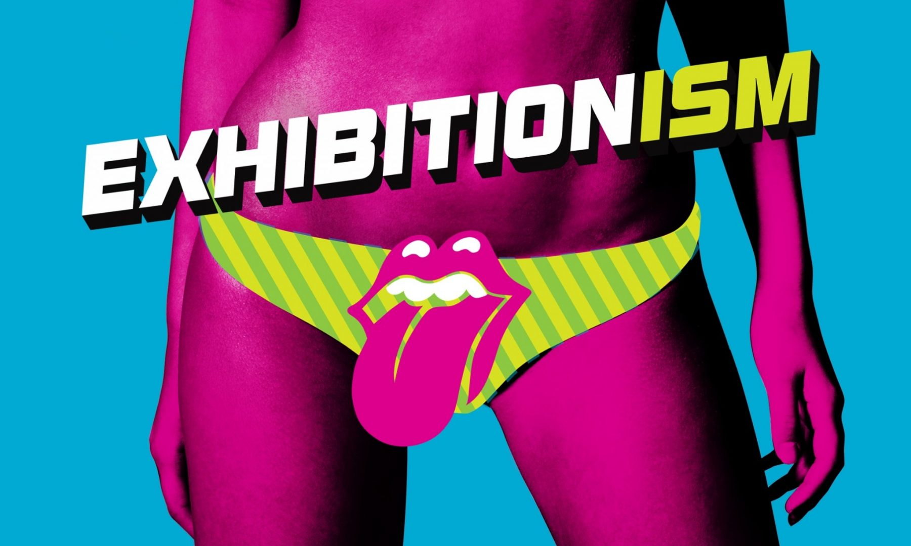 The poster for The Rolling Stones' Exhibitionism London exhibition