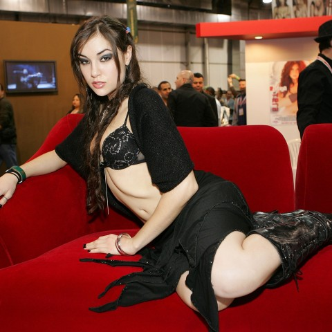 Sasha Grey at an Adult Entertainment Expo in Las Vegas