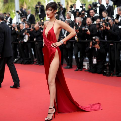 Bella Hadid hits the red carpet.