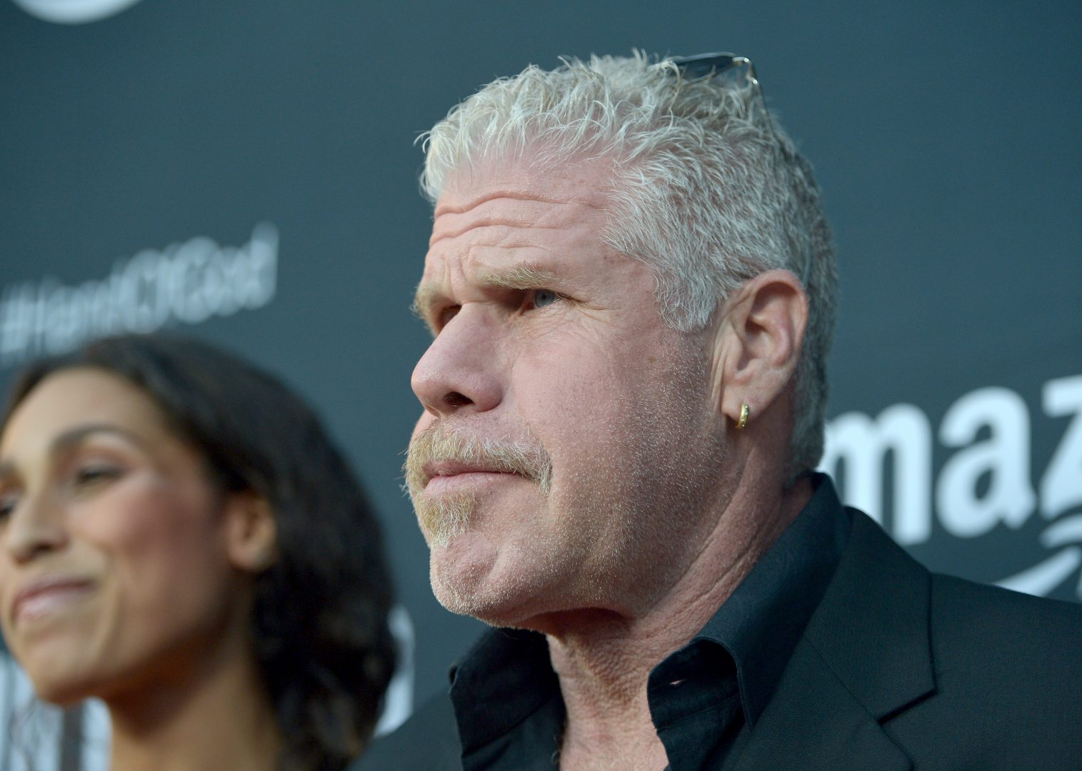 Ron Perlmann posing for Hand of God.