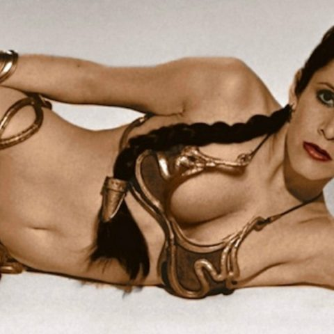 Carrie Fisher as Star Wars legend Princess Leia in Star Wars