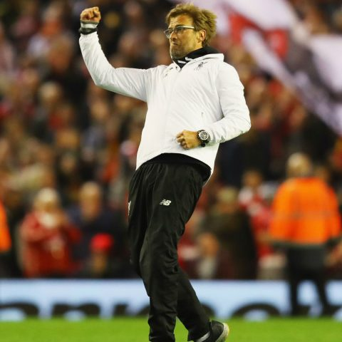 Jurgen Klopp on the touchline for Liverpool