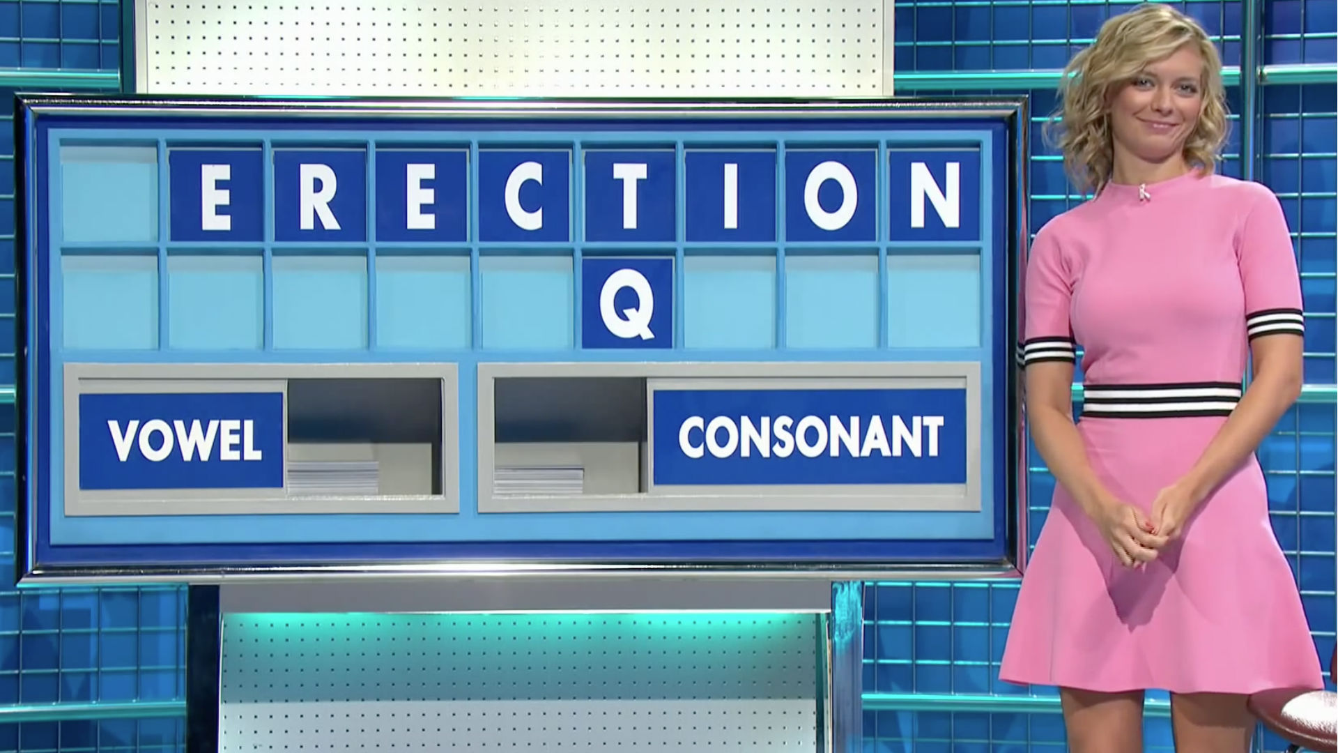 Rachel Riley spells out erection on Countdown