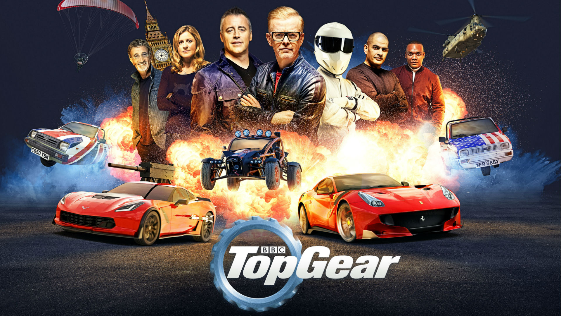 Top Gear's Chris Evans and the new presenting team