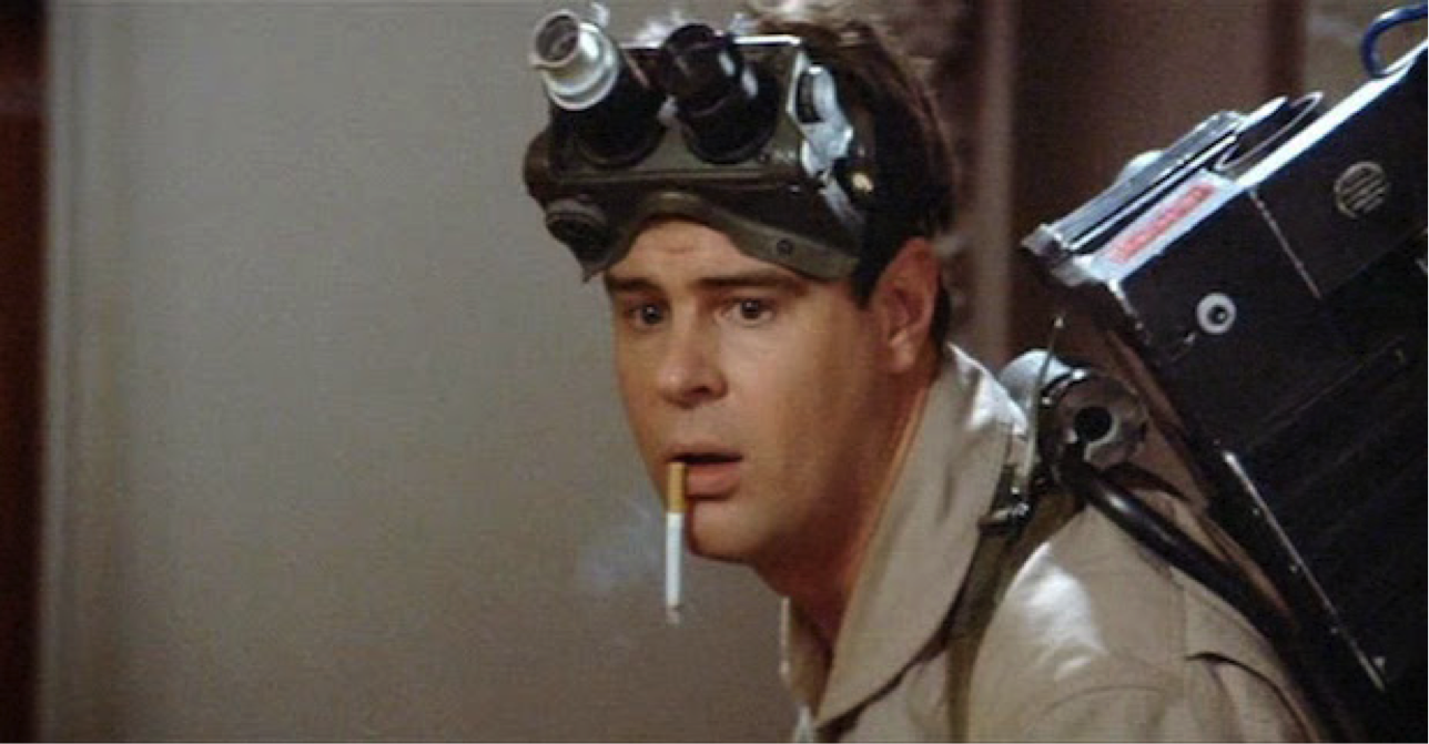 Dan Aykroyd in Ghostbusters.