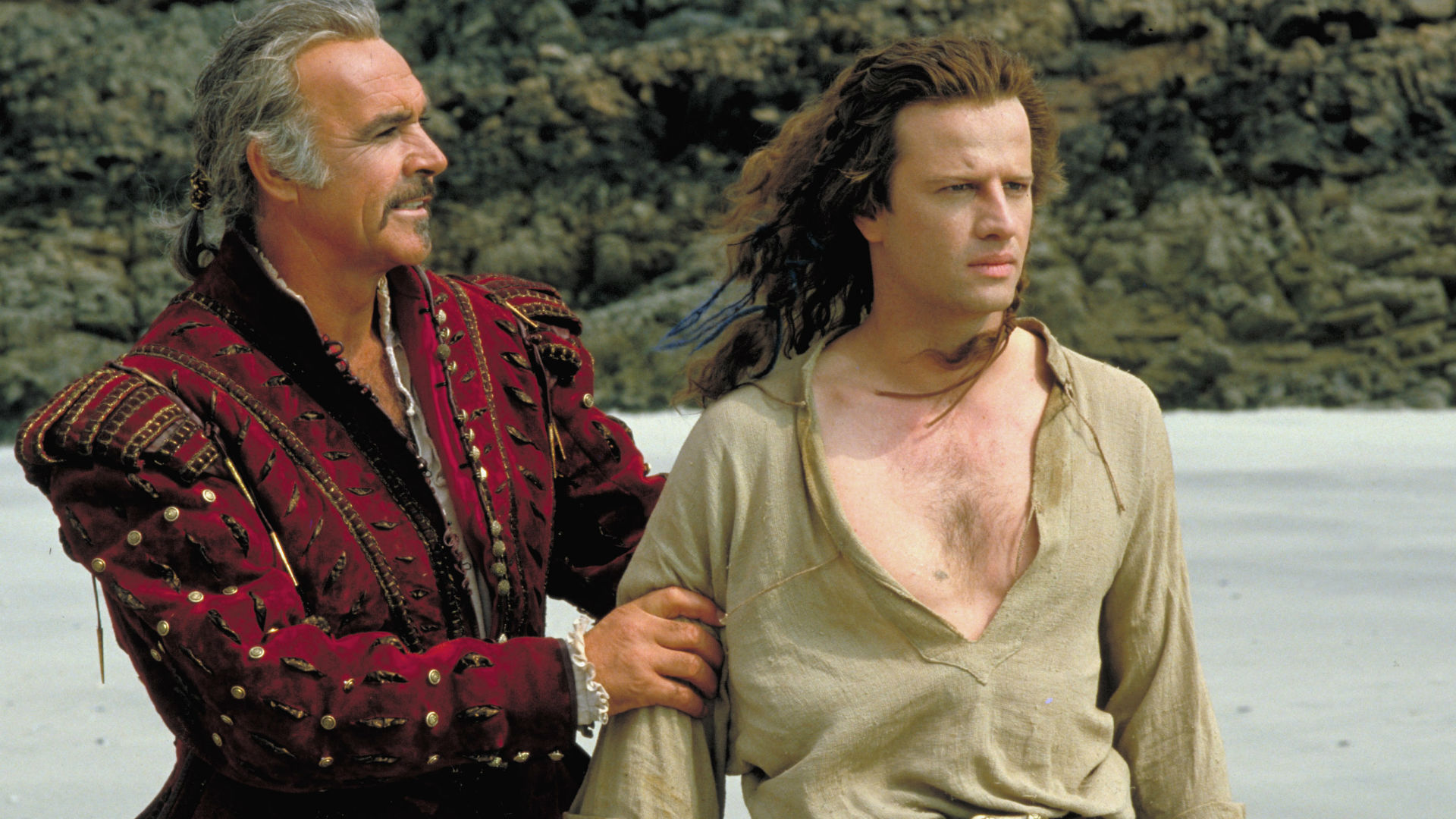 Christopher Lambert and Sean Connery in Highlander