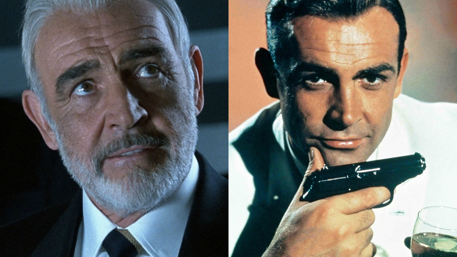 Sean Connery in The Rock and as James Bond