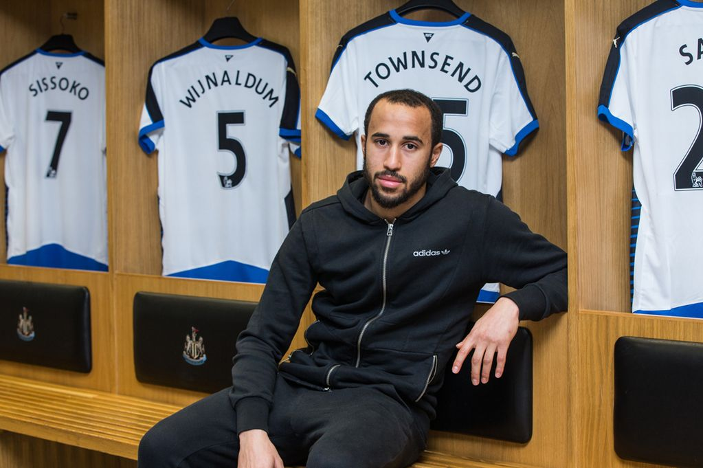 Andros Townsend signs for Newcastle.