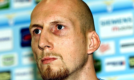 Jaap Stam signs for Lazio from Manchester United.