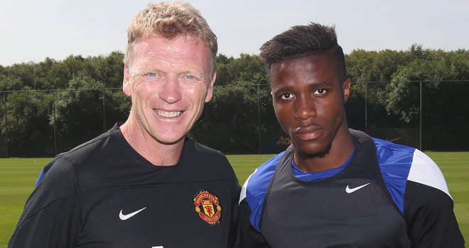 Wilfried Zaha unveiled by Manchester United.