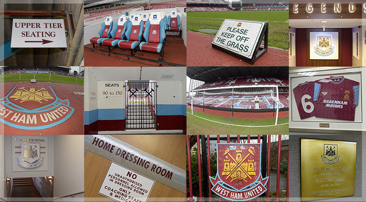A selection of memorabilia from West Ham
