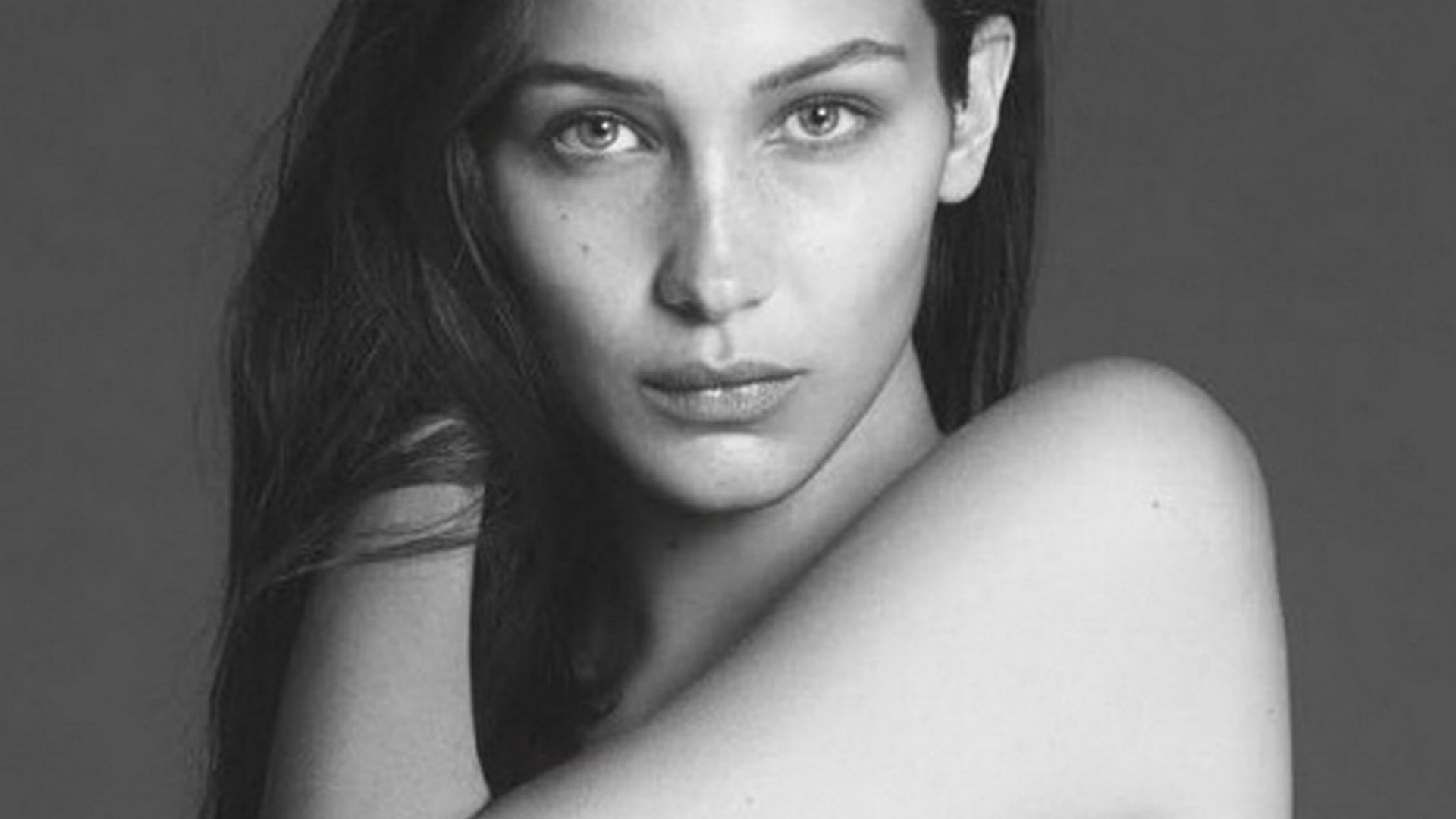 Bella Hadid poses for Vogue