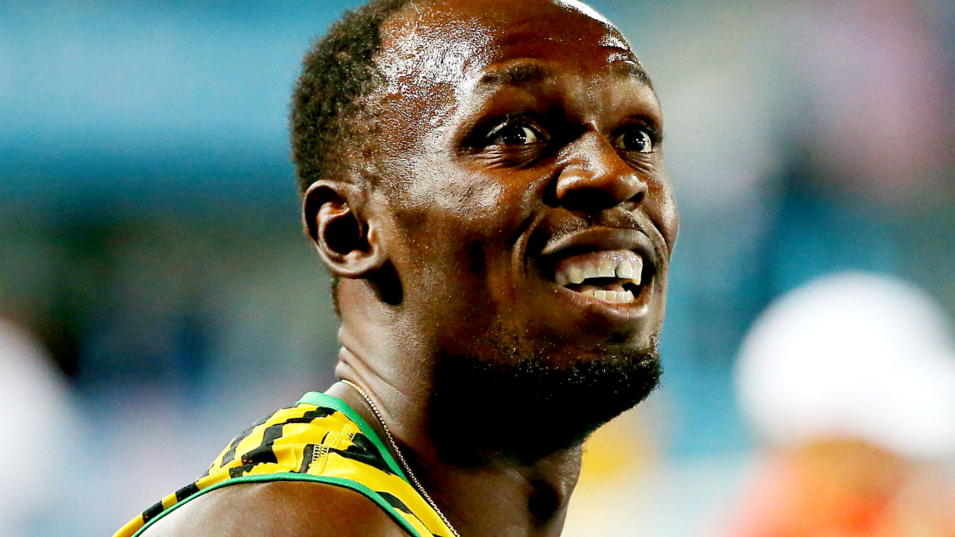 Usain Bolt of Jamaica at the Olympics.