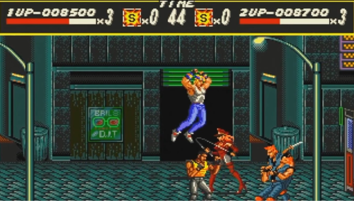 A screenshot from Streets of Rage.