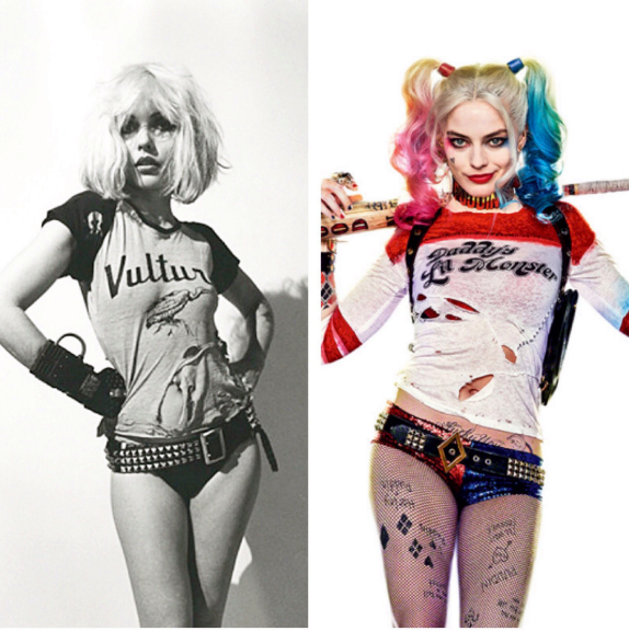Debbie Harry and Margot Robbie side by side.