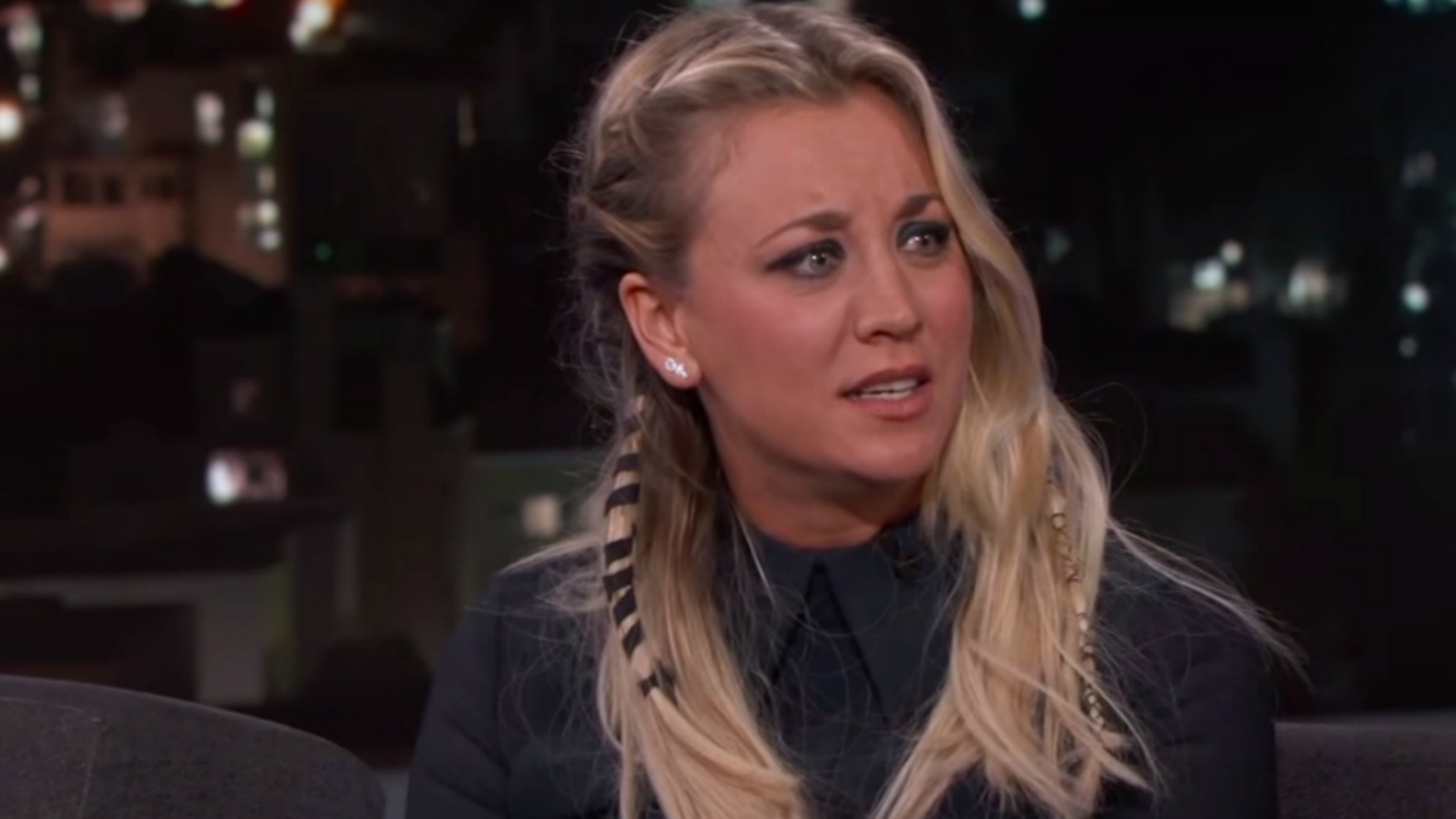 Big Bang Theory star Kaley Cuoco on Jimmy Kimmel
