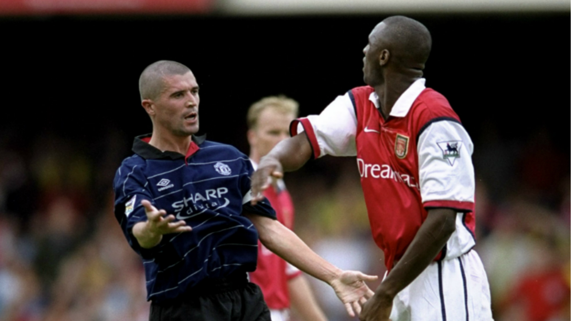 Roy Keane and Patrick Vieira