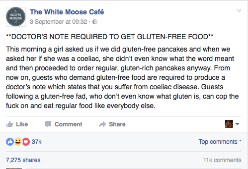 The White Moose Cafe on Facebook.