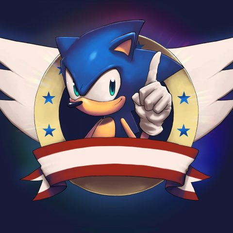 The new Sonic the Hedgehog logo.