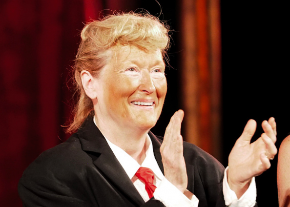 Meryl Streep as Trump at Public Theater Gala