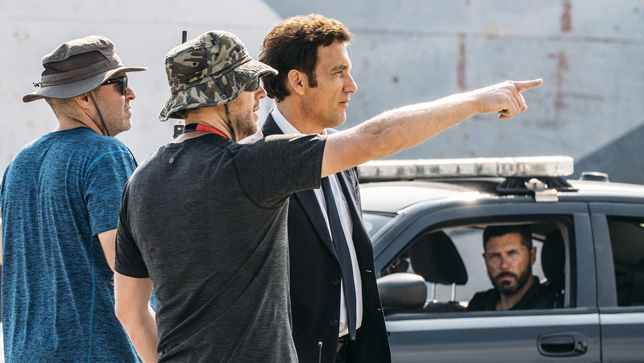 Clive Owen filming The Escape