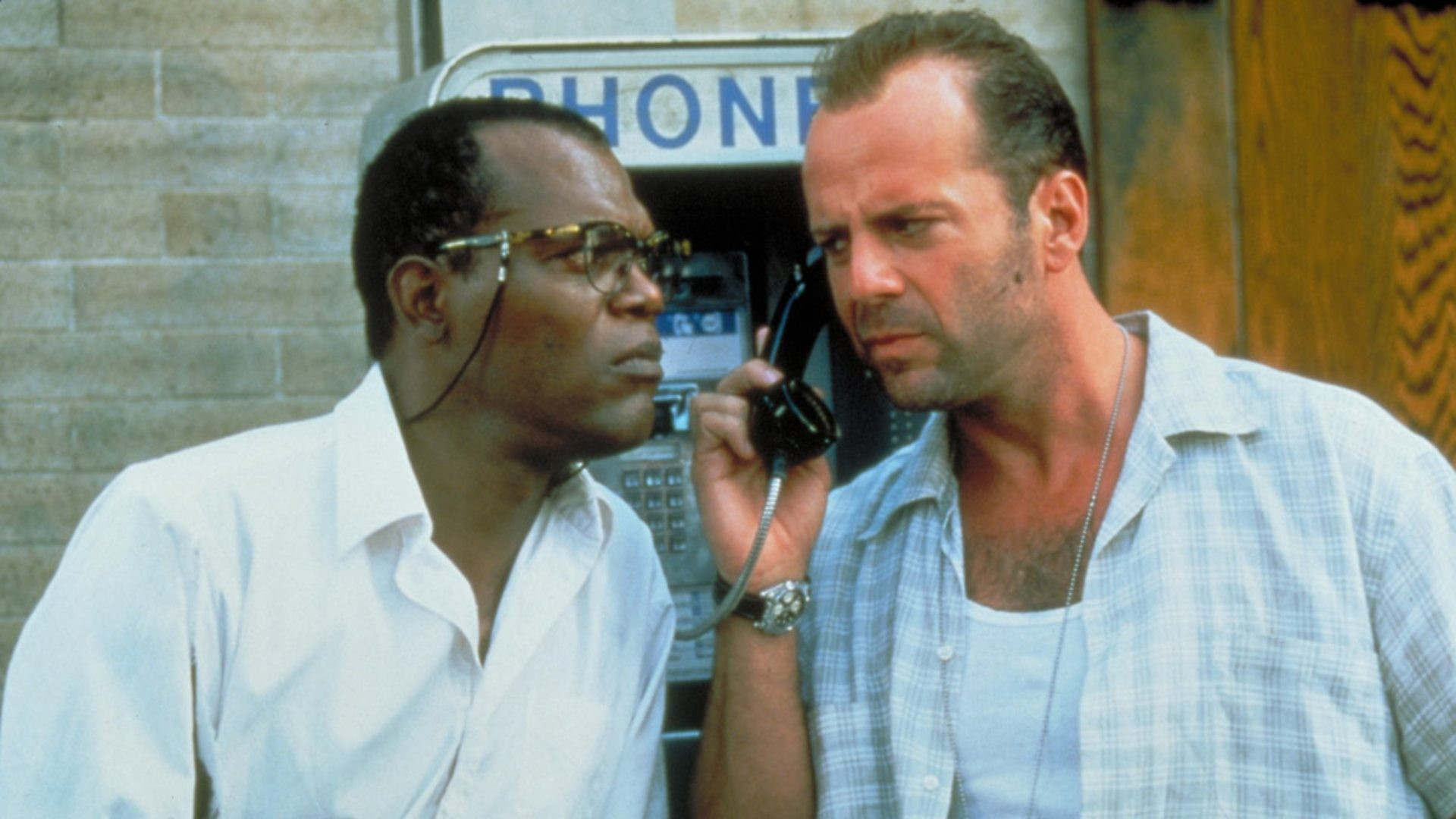 Samuel L. Jackson and Bruce Willis in Die Hard With A Vengeance.