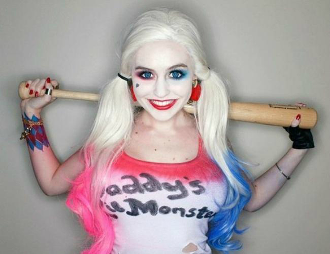 Harley Quinn cosplay Super Mary Face