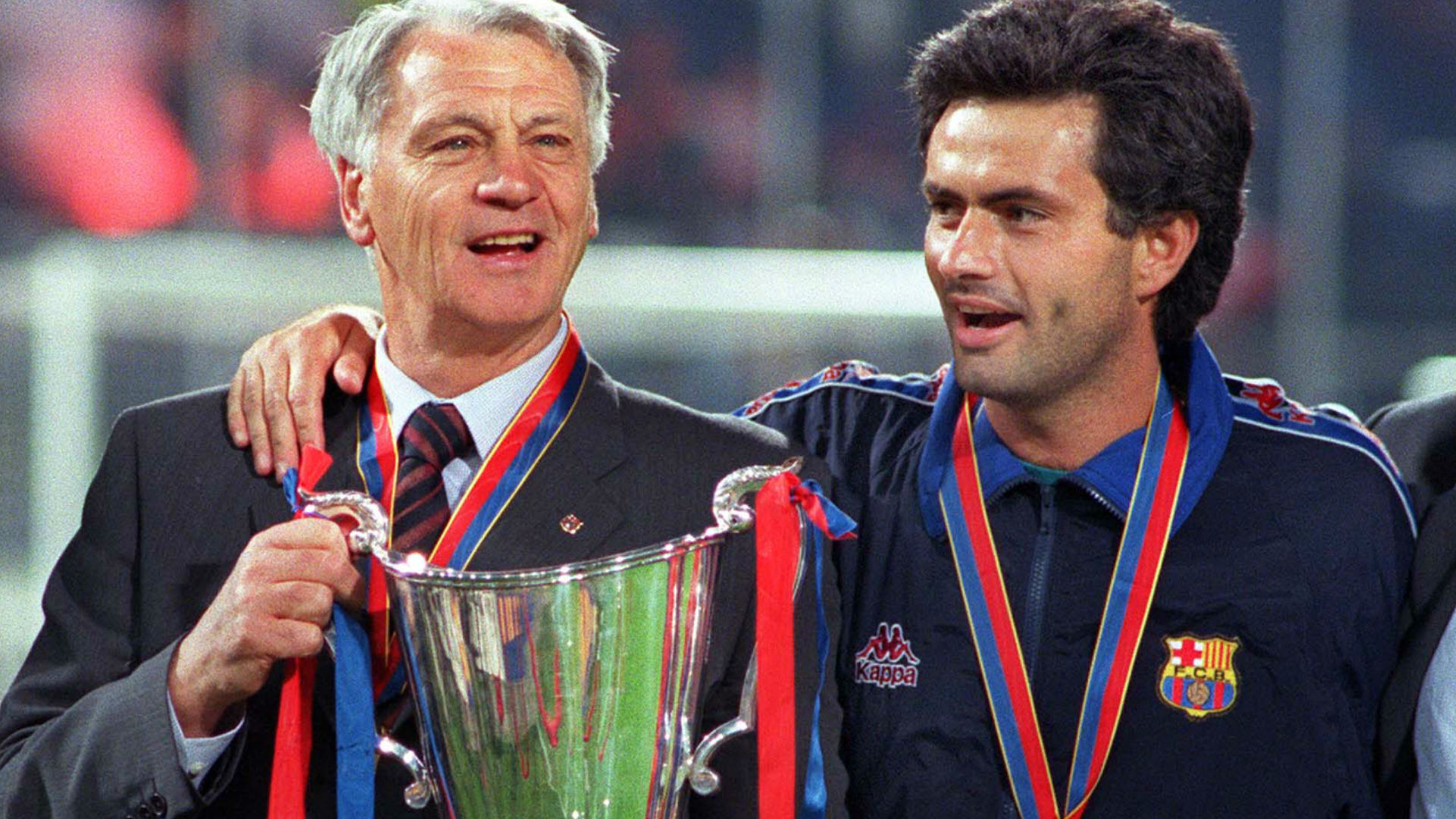 Sir Bobby Robson and Jose Mourinho