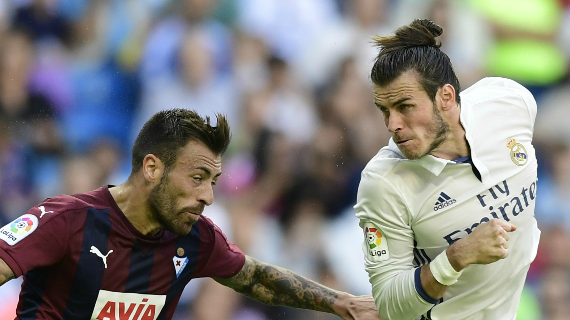 Antonio Luna and Gareth Bale in La Liga