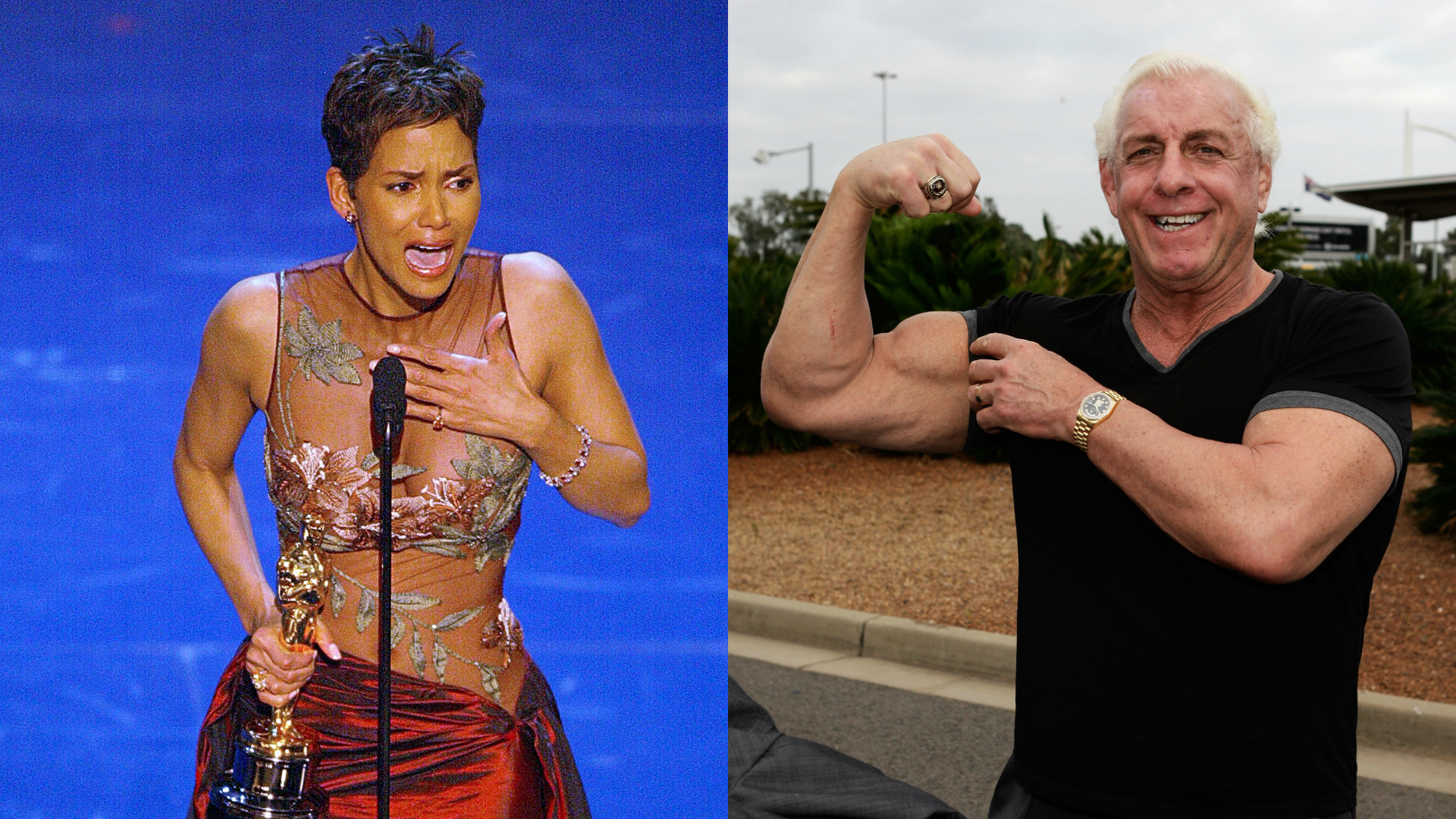 Halle Berry and Ric Flair together at last.