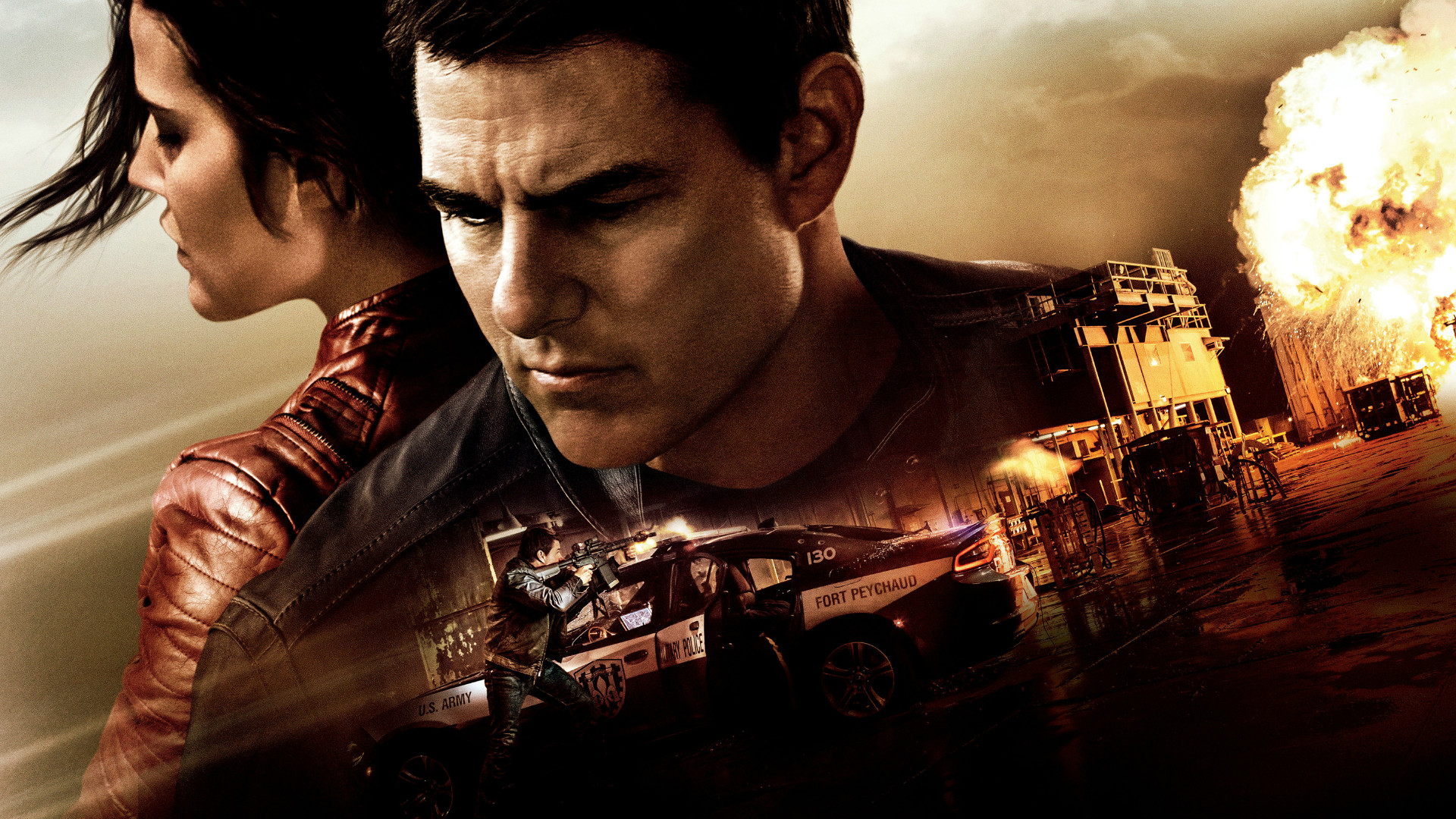 Tom Cruise and Colbie Smulders in Jack Reacher.