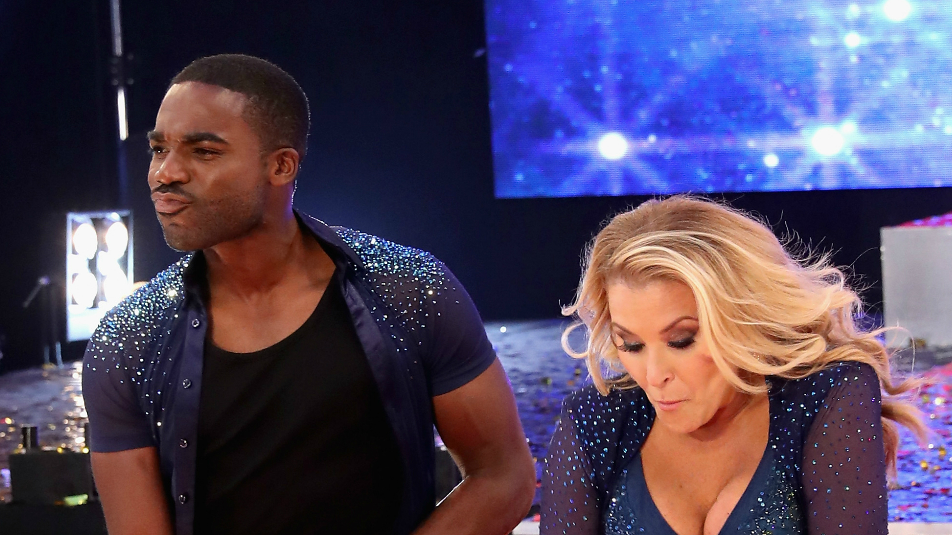 Ore Oduba and Anastacia on Strictly Come Dancing.