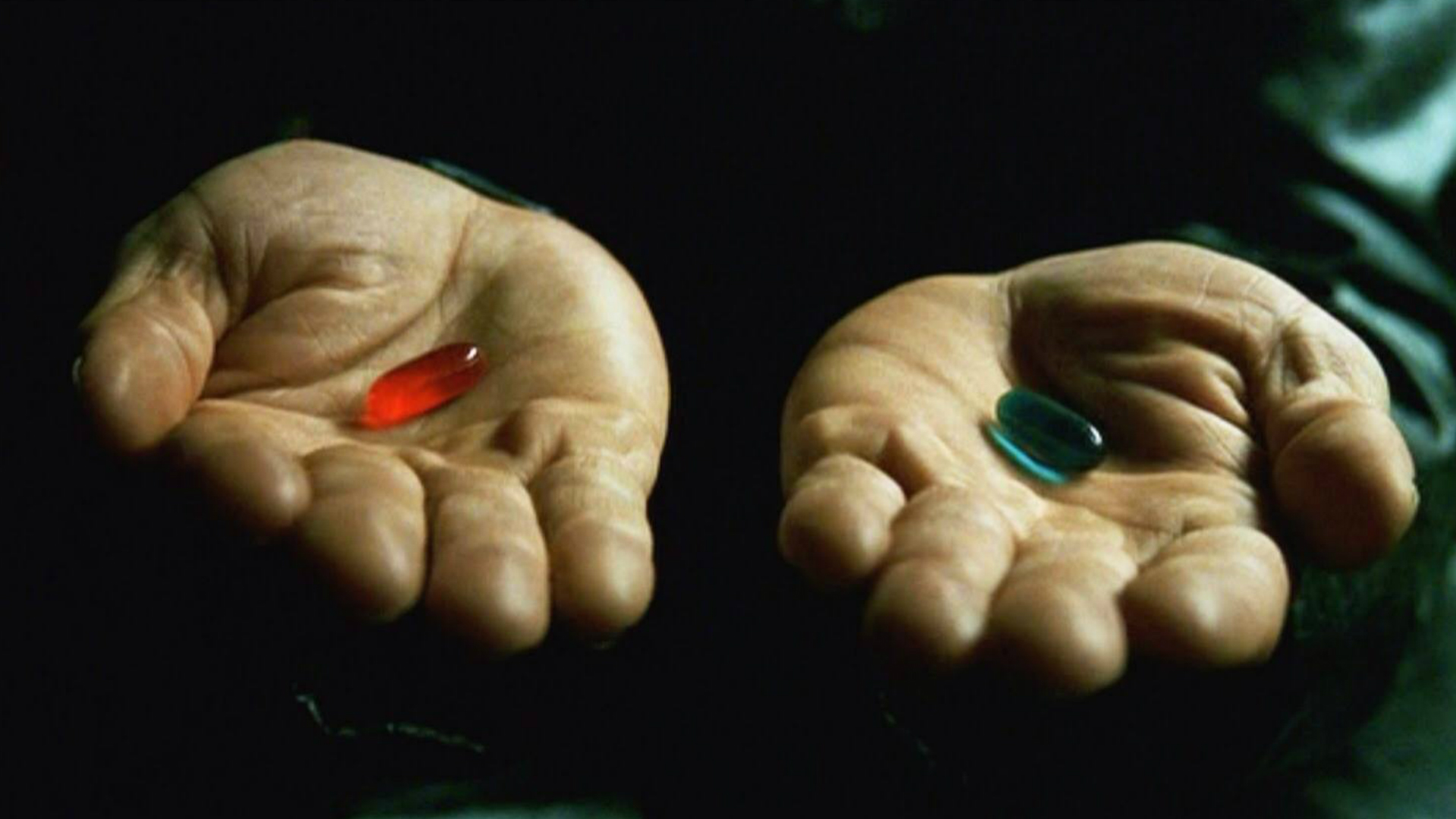 The Matrix red pill and blue pill