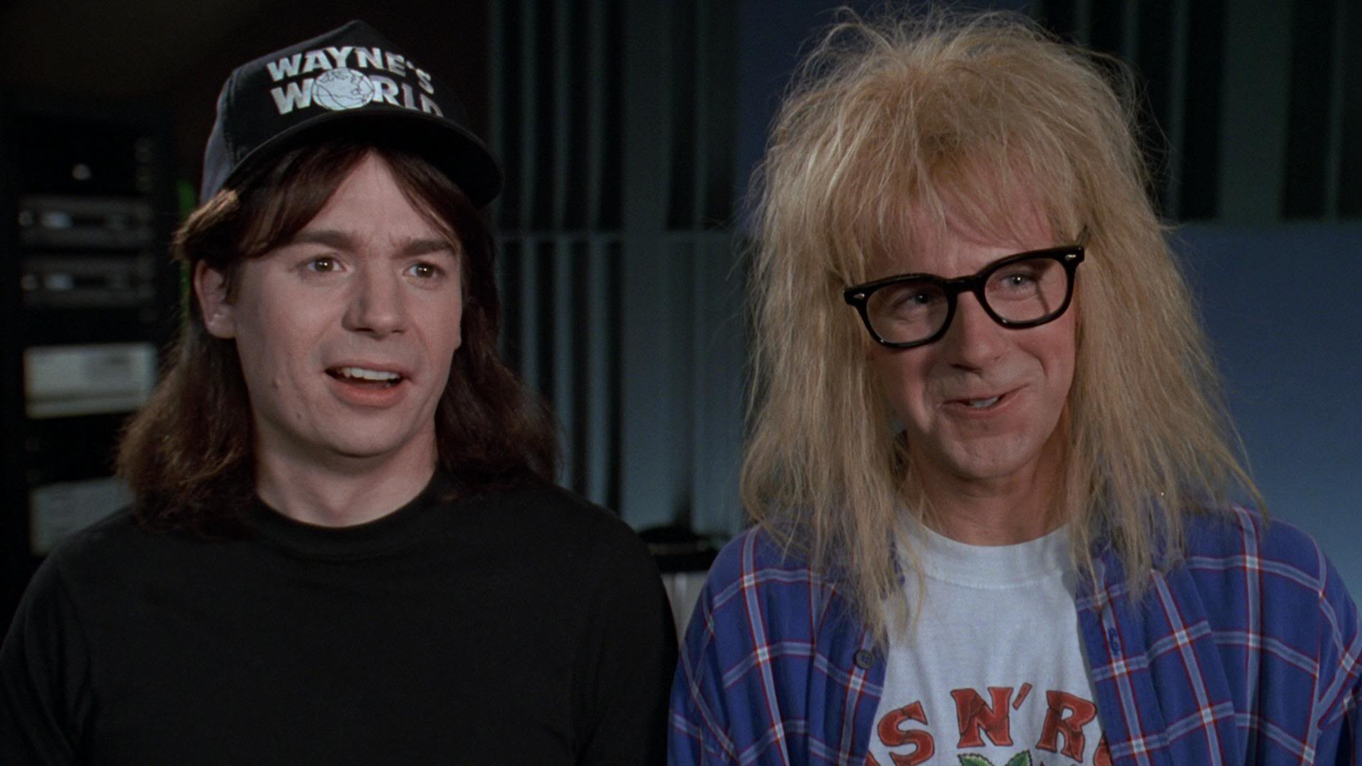 Mike Myers and Dana Carvey in Wayne's World.