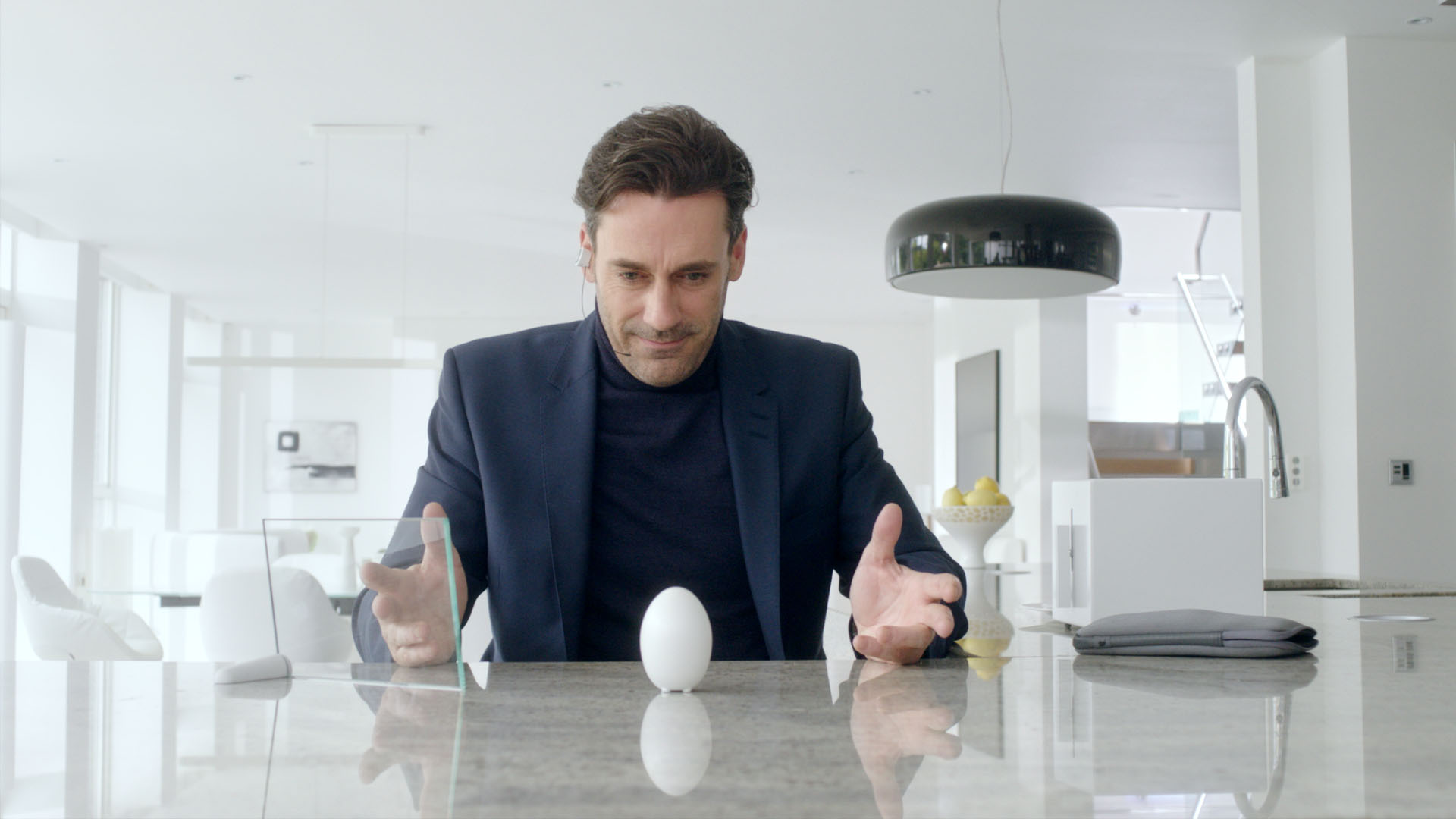 Jon Hamm appears in the Black Mirror Christmas special.