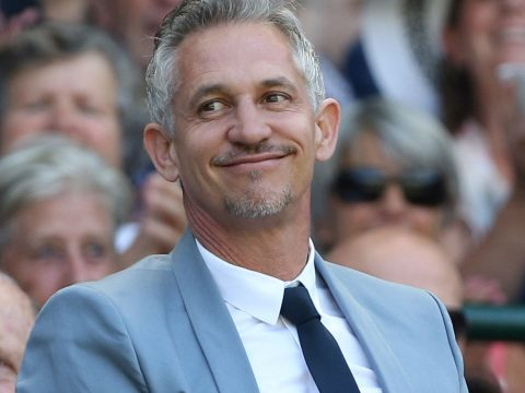 Gary Lineker at Wimbledon
