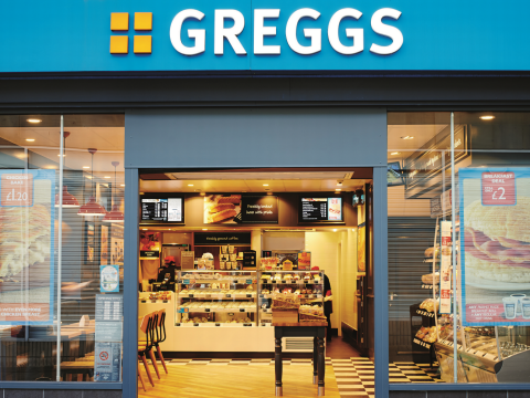 A typical Greggs bakery