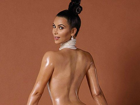 Kim Kardashian Paper Magazine cover shoot