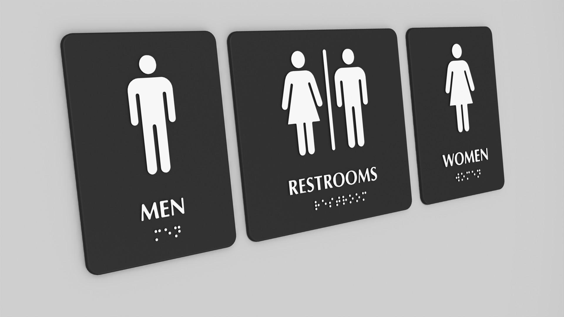 A selection of toilet signs.