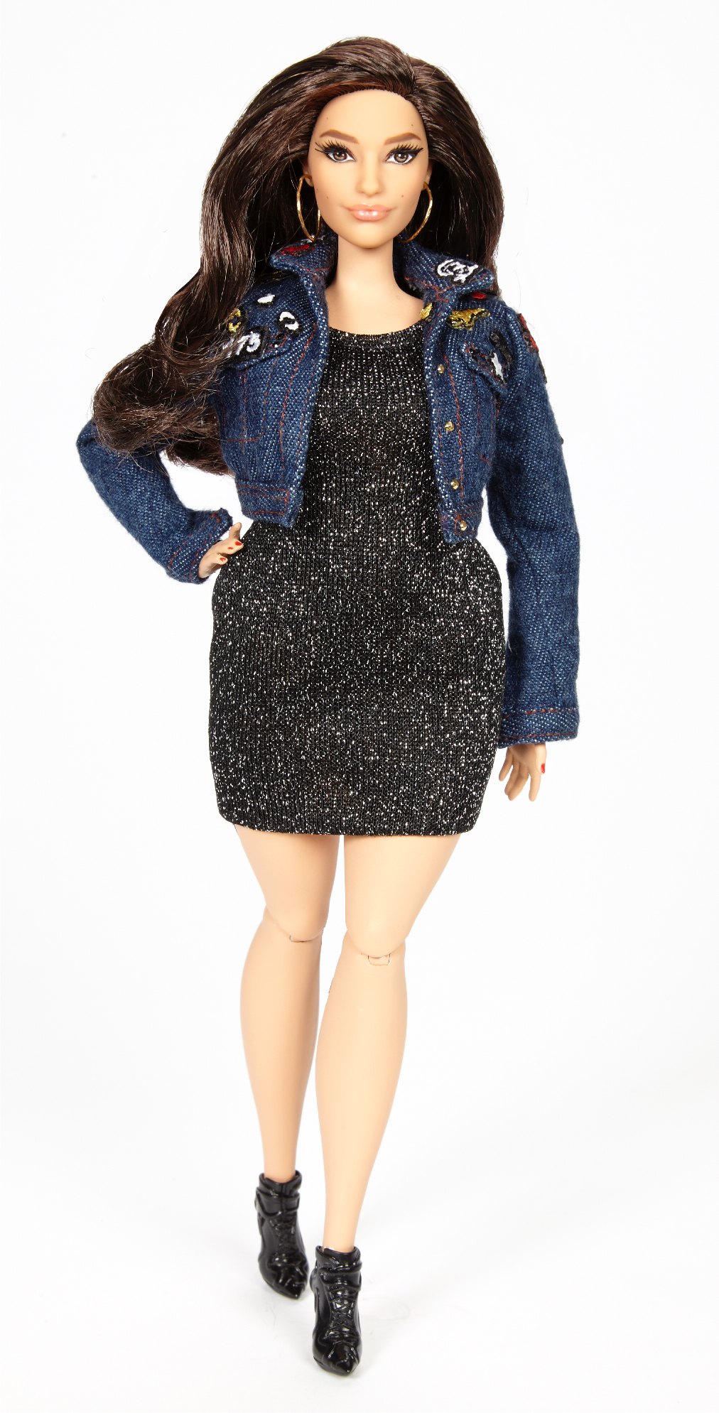 Ashley Graham in Barbie doll form.