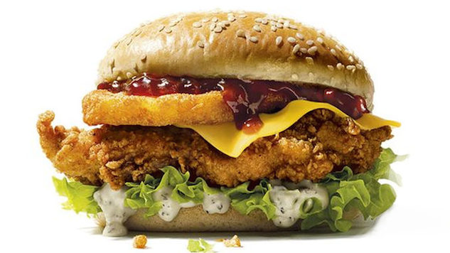 The KFC Christmas Burger