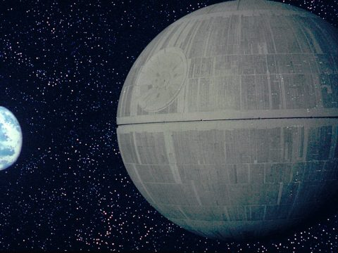 The Death Star from Star Wars.