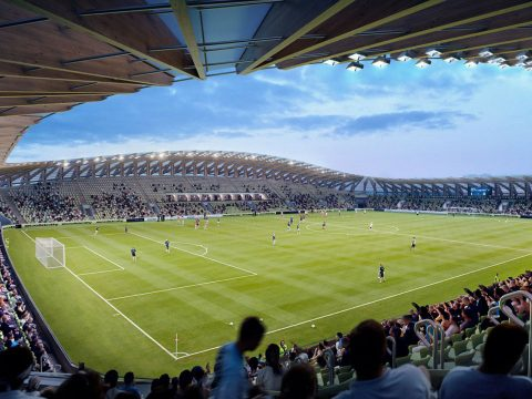 Forest Green Rovers wooden stadium