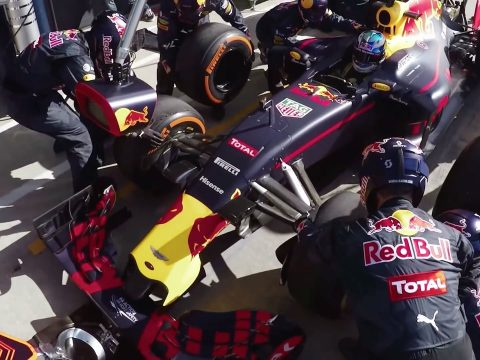 Red Bull's Formula One pit stops