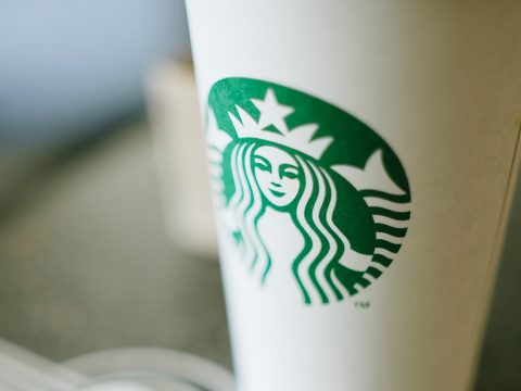 A coffee from Starbucks.