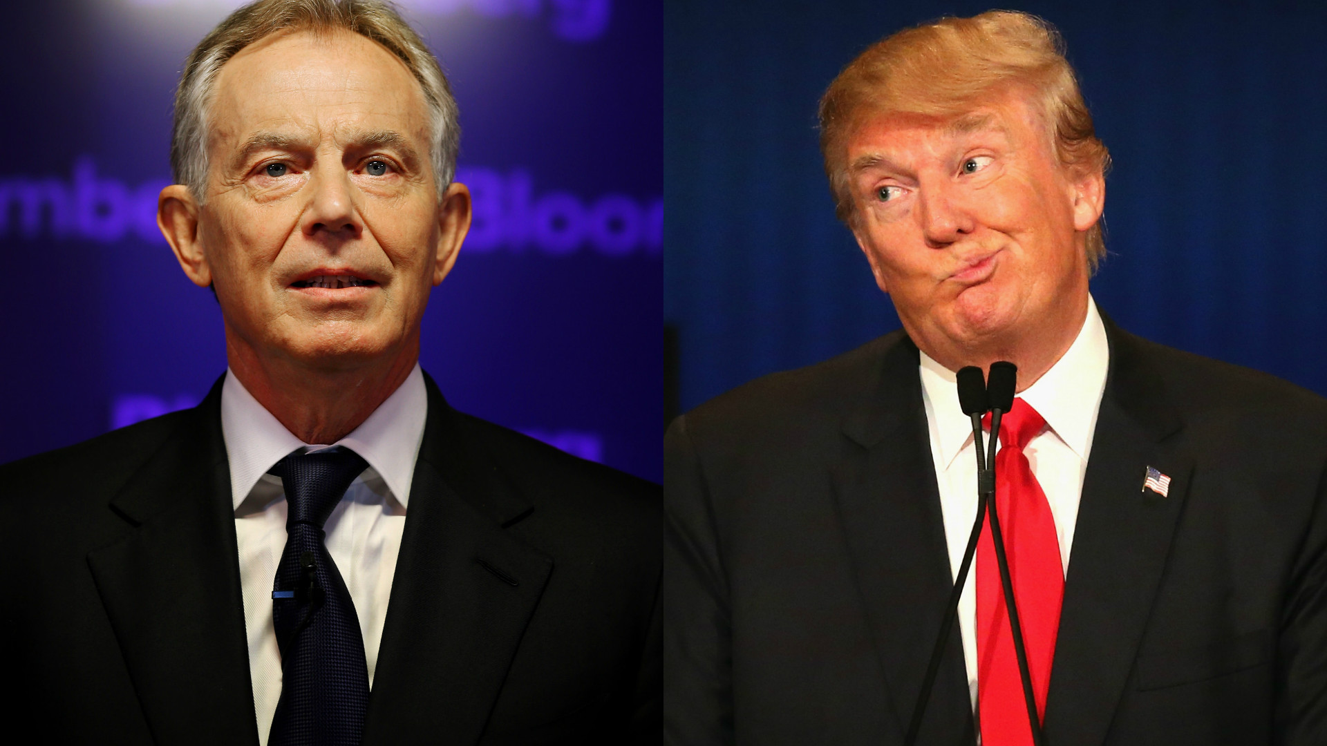 Tony Blair and Donald Trump